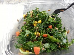 The Biggest Loser Kale Salad Prepared